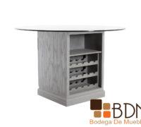 Mesa para comedor de mdf con cubierta de cristal