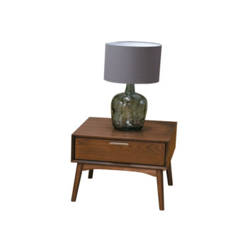 Mesa lateral minimalista rustica con cajon