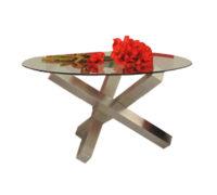 Mesa para comedor con cubierta de cristal