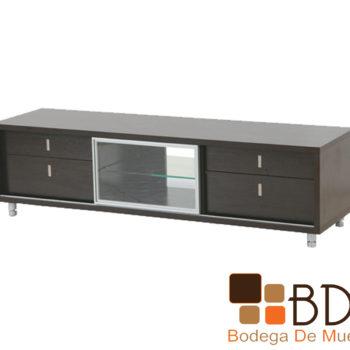 Mueble de TV con repisas de cristal