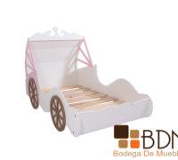 Cama infantil de madera estilo carroza cenicienta