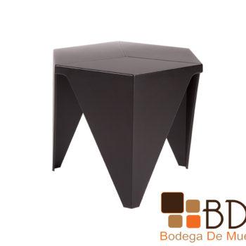 Mesa lateral minimalista en color negro