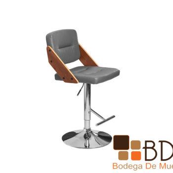 Banco ajustable con asiento en vinipiel