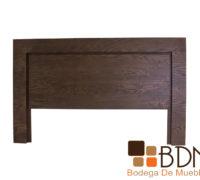 Cabecera individual de madera color nogal