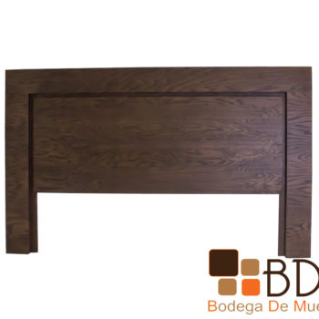Cabecera King Size de madera color nogal