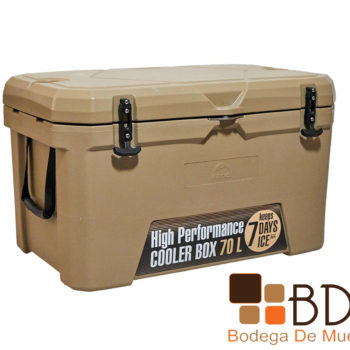Hielera rectangular con sellado hermetico 70 litros