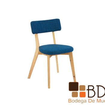 Silla ocasional de madera con respaldo y asiento acolchonado