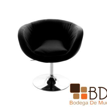 Sillon ajustable tapizado en vinipiel color negro con piston