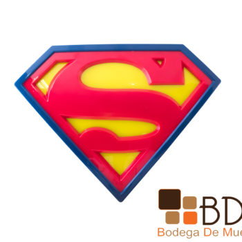 Lampara infantil moderna para recamara superman