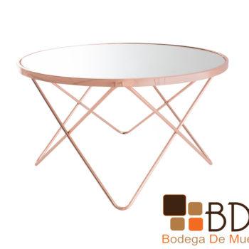 Mesa de centro minimalista color dorado
