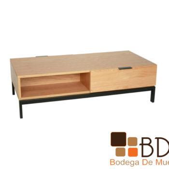Mesa de centro elegante de madera color natural