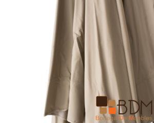 Sombrilla grande para exterior color beige