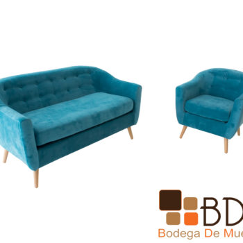 Set sofa y sillon individual para sala