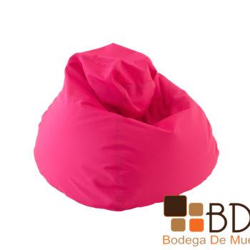 Sillon puff comodo moderno color rosa