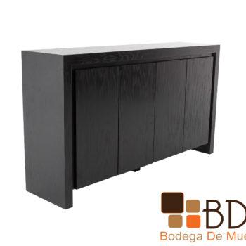Bufetero color negro moderno con cajon en mdf