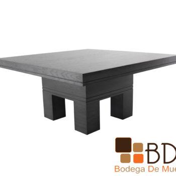 Mesa para comedor en mdf enchapado de encino color gris