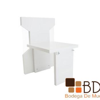 Panel estilo cubiculo en mdf y cristal para recepcion de oficina