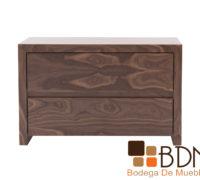 Buro elegante para recamara en madera de nogal color claro