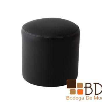 Sillon cilindrico moderno estilo taburete en color negro