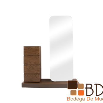Tocador especial moderno para habitacion con espejo y cajonera