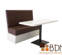 Banca mesa para restautante comodo tapizado en vinil