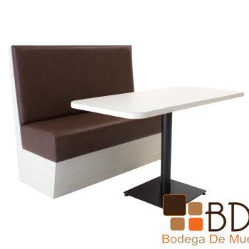 Banca mesa para restaurante cómodo tapizado vinil