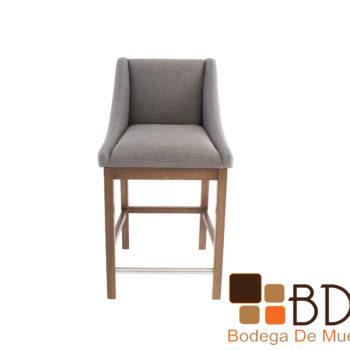 Banco moderno tapizado gris confortable