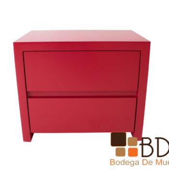 Buro en mdf moderno minimalista color rojo para recamara