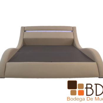 Cama king size minimalista con buros para habitaciones