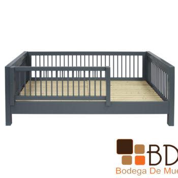 Base Cama Individual Infantil Segura con Rejas