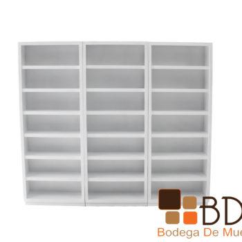 Librero con Entrepaños  Amplio Moderno Blanco
