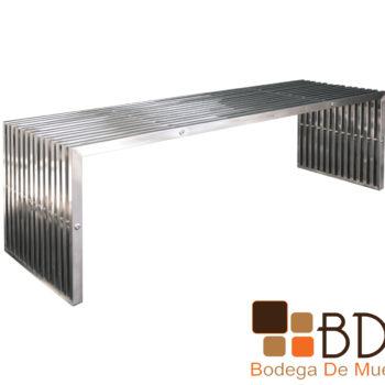Mesa de Centro Lineal de Metal Moderna para Sala
