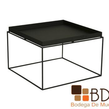 Mesa de Centro Moderna de Metal Color Negro