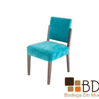 Silla para Comedor Elegante Tapizada Color Aqua