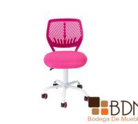 Silla de oficina juvenil color rosa