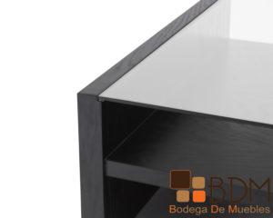 Mesa de centro en MDF enchapado encino cristal 9 mm