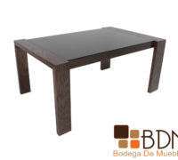 Mesa rectangular moderna para comedor color nogal