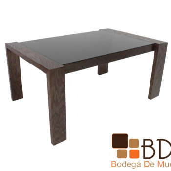 Mesa rectangular moderna para comedor color nogal