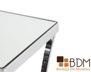 Buffet y consola color cromado con espejo