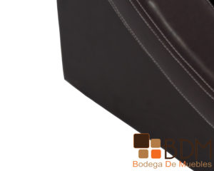 Cama king size moderna color chocolate en tactopiel