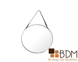 Espejo redondo moderno cromado color plata