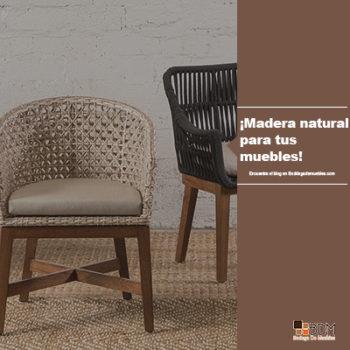 ¡Madera natural para tus muebles!
