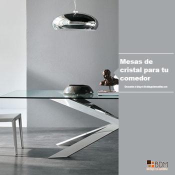 Mesa de cristal para tu comedor